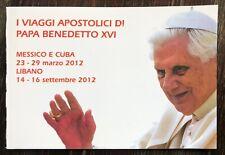 VATICANO LIBRETTO VIAGGI APOSTOLICI PAPA BENEDETTO XVI 2012 Messico Cuba Libano