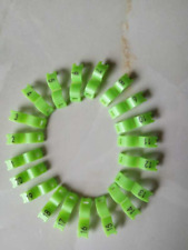 New listing 5 mm Green Bird Ring Leg Bands Parrot Finch Canary Grouped 1-20 Numbered