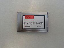 Adaptec SlimSCSI 1460D 1807400-B Fast SCSI PC Card PCMCIA 50pin cable 494488-01C