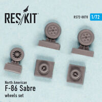 Reskit RS72-0078 - 1/72 – Resin wheels set for North American F-86 Sabre
