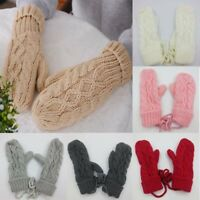 Winter Mittens Soft Gloves Thermal Knitted Extra Warm Womens Insulated Ladies