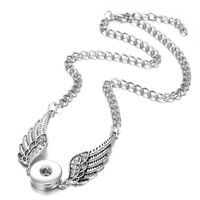 New Style Angel Wings Pendant Drill Snap Fit Noosa Necklace Chunk Charm Button