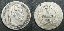 1/4 de Franc  1842 A -  LOUIS-PHILIPPE I - Argent