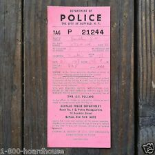 2 Vintage Original POLICE PARKING TICKET 1960s Written on Buffalo New York NY