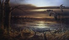 Terry Redlin Reflections Duck Lake Print   18x 10.5