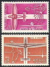 France 1962 Plane/Glider/Aviation/Stork/Birds/Aircraft/Transport 2v set (n23245)
