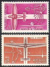 France 1962 Plane/Glider/Aviation/Stork/Birds/Aircraft/Transport 2v set (n23245)