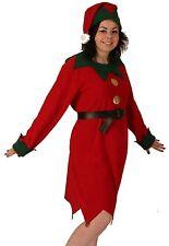 Female Lady Elf Tunic Christmas Santa Helper Fancy Dress Costume NEW 12-16