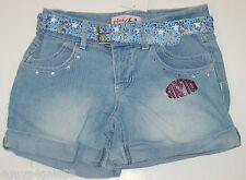 Size 6 GIRLS Shorts PINK ANGEL Denim Jean w belt BLING STAR Studded