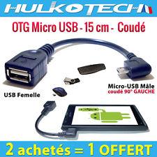 Cable Adaptateur Micro Usb OTG Host - Coudé -pour HTC One M7 /One mini M4 /One S