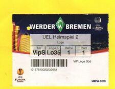 Ticket   Europa League  09/10   W.BREMEN - AUSTRIA WIEN