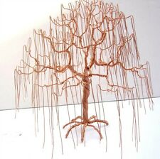 Copper Weeping Willow Wire Tree  - Artist -  Metal Sculpture