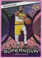 2020-21 Panini Revolution LeBron James Supernova Card #1 Los Angeles Lakers
