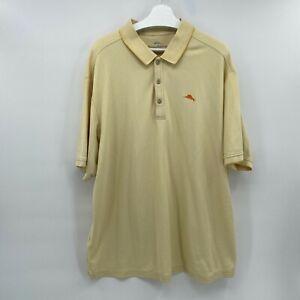 Tommy Bahama $100 Emfielder 2.0 Polo 2XB Island Zone Yellow Shirt Big & Tall