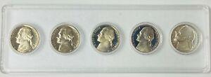 1972-1976 S Jefferson Nickel Gem Proof 5 Coin Set in Holder