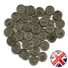 A set of (x50) 1966 British Cupro-Nickel ELIZABETH II SIXPENCE Coins