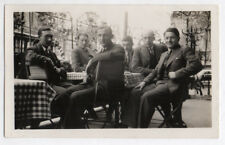 PHOTO ANCIENNE ANONYME Homme Man Gay Interest 1930 Café Bistrot Groupe Vichy