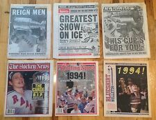 NEW YORK RANGERS 1994 STANLEY CUP NEWSPAPERS THE HOCKEY NEWS, POST, DAILY NEWS