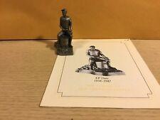 Saturday Evening Post Franklin Mint Pewter Figurine Kp Duty