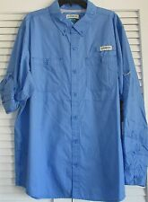 PADRE ISLAND FISHING SHIRT L/S PROVENCE BLUE MEDIUM  (8)