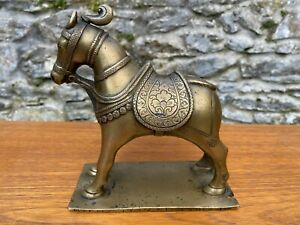 Antique Indian Persian Bronze horse on stand,19th century or earlier