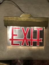 Antique Lighted Theater Exit Sign Architectural Vintage Chicago Electric #1 of 2