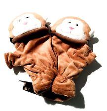 Ladies Monkey Animal Faux Fur Soft Fingerless Gloves Mittens Winter Fashion Gift