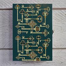 azul verdoso madera Llave Armario Caja Almacenaje ANTIGUO ideal para A Man