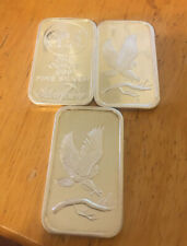 Lot of (3) .999 Silver Towne Silver Bars! NO RESERVE!
