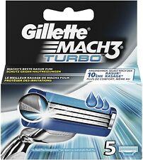 Gillette Mach3 Turbo Rasierklingen Für Männer, 5 Stück