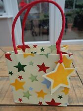Emma Bridgewater X Small Star Pattern Gift  Bag with Tag 13cm x 13cm