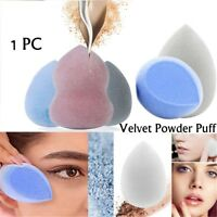 Velvet Sponge Microfiber Fluff Surface Cosmetic Powder Puff Makeup Tool UK
