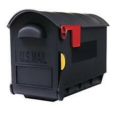 ❤✔ Gibraltar Patriot Large Capacity Rust-Proof Plastic Black Post-Mount Mailbox