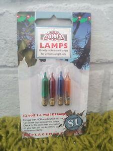 Vintage Noël ampoules 6 V E5 vis Multicolore /& Fusible Feux Woolworths Noma M1