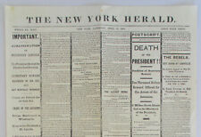 1865 Abraham Lincoln Assassination New York Herald Newspaper Reproduction Apr 15