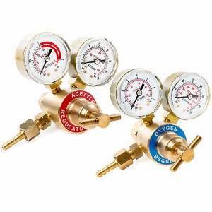 Oxy & Acetylene Regulator Tank Gauge Cutting Torch Fits Most Victor Style Sets