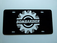 Vintage Bombardier Snowmobile Logo Black White Novelty License Plate