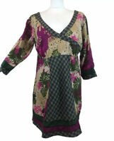 Joe Browns Tunic Smock Dress Floral Check Pattern Womens 12