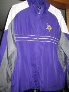 new Minnesota Vikings NFL football SI purple gray light jacket team Reebok L