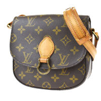 Auth LOUIS VUITTON Mini Saint Cloud Shoulder Bag Monogram Brown M51244 80MG708