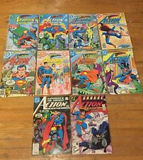 Action Comics #475,477,488,489,496,500,507,508,593 and Annual #1 Lot of 10 books