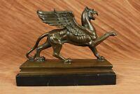 Art Decor BIG Vintage Ornate Victorian gilt bronze figural dragon griffin Deal
