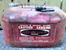 Mercury Marine metal antique gas can 5 Imperial gallons
