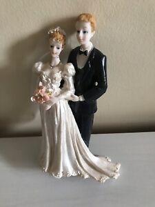 "BRIDE & GROOM LARGE CAKE TOPPER / ORNAMENT/ DECORATION BNEW 7"""