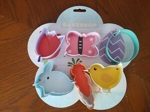The Bakeshop By Masterclass Easter Cookie Cutter Set Tulip Bunny Chick Egg