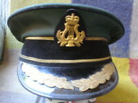 S/H ORIGINAL BRITISH RAF HAT WITH BADGE AND BRAID 17 CM SEE ALL PICS