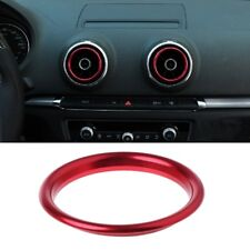 Car Air Outlet Decoration Trim Ring Sticker Red  For AUDI A3 S3 2013-2016/Q2