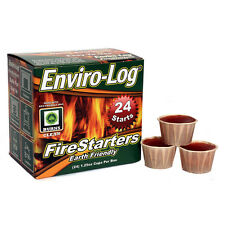 Enviro-Log Eco-Friendly Wax 24-Pack 2.5-lb Fire Wood Log and Firestarter