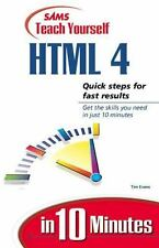 Sams Teach Yourself Html 4.0 in 10 Minutes by Evans, Tim