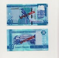 Gambia 20 Dalasis ND(2017) SPECIMEN Banknote Unc